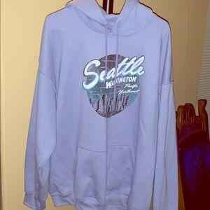 XL Seattle light purple hoodie warm